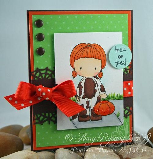 CCD Trick or Treat Cow Emma Card by AmyR