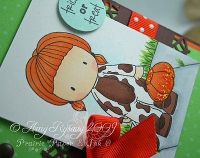CCD Trick or Treat Cow Emma Card Closeup by AmyR-1
