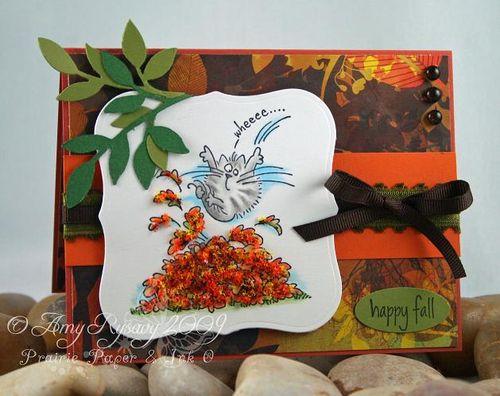 Fluffles Happy Fall Card by AmyR