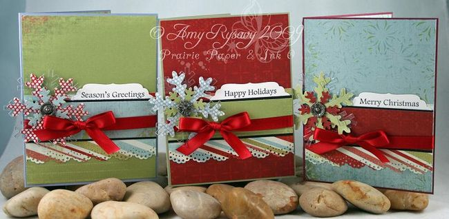 AmyR Stamps Christmas Card Trio Set by AmyR