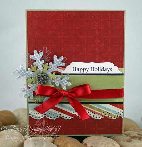 AmyR Stamps Christmas Card Trio Set Card 1 by AmyR