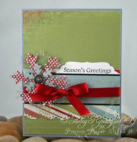 AmyR Stamps Christmas Card Trio Set Card 3 by AmyR