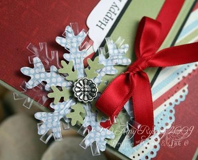 AmyR Stamps Christmas Card Trio Set Card 1 Closeup by AmyR