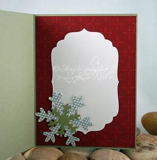 AmyR Stamps Christmas Card Trio Set Card 1 Inside by AmyR