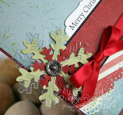 AmyR Stamps Christmas Card Trio Set Card 2 Closeup by AmyR