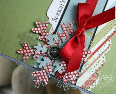 AmyR Stamps Christmas Card Trio Set Card 3 Closeup by AmyR