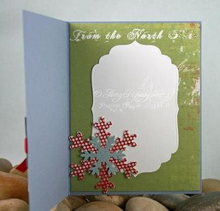 AmyR Stamps Christmas Card Trio Set Card 3 Inside by AmyR