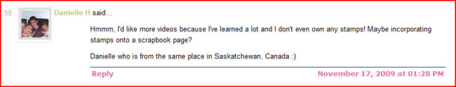 Capture winning comment