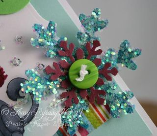 WRS Peace on Earth Card Closeup Snowflake by AmyR
