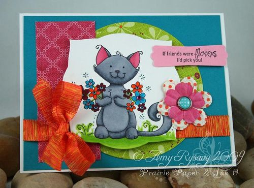 WRS Friendly Flower Cat Card by AmyR