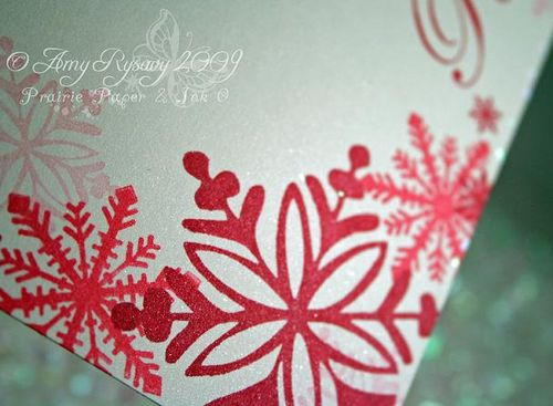 AmyR Stamps Snowflake Card Trio Card 1 Closeup by AmyR