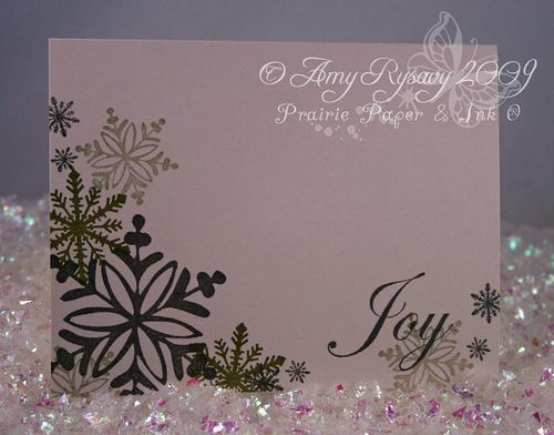AmyR Stamps Snowflake Card Trio Card 2 by AmyR