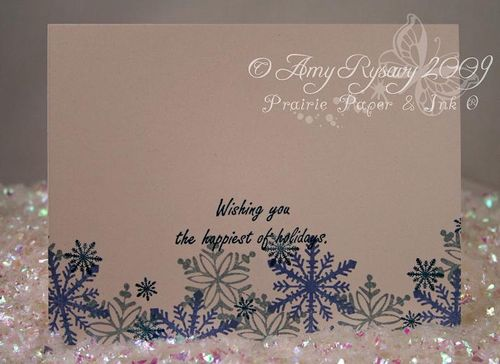 AmyR Stamps Snowflake Card Trio Card 3 Inside by AmyR