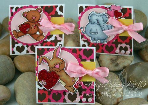 CC Cute Critters Valentine Trio by AmyR