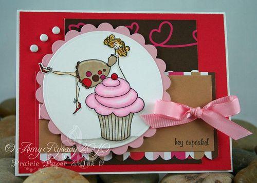 Bella Hey Cupcake Bella Card by AmyR