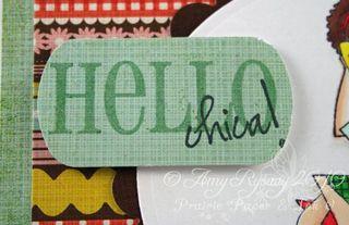 Gossipabella Hello Chica Card Closeup by AmyR