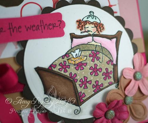 Bella Under the Weather Card Closeup by AmyR