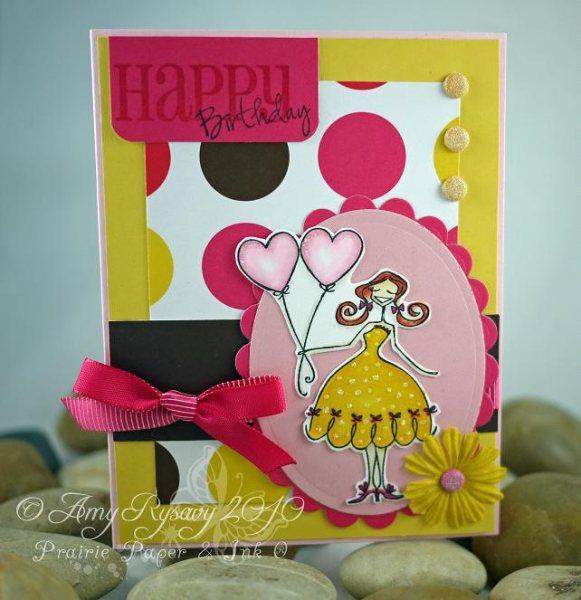 Happy Birthday Bella Card by AmyR