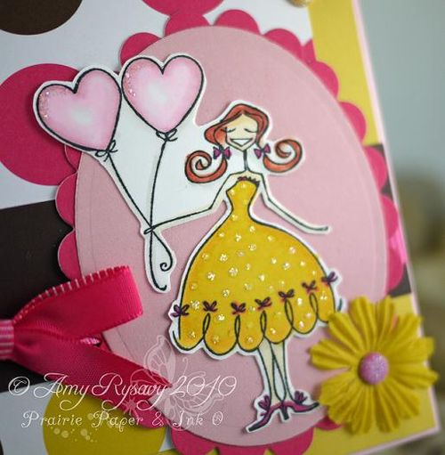 Happy Birthday Bella Card Closeup by AmyR