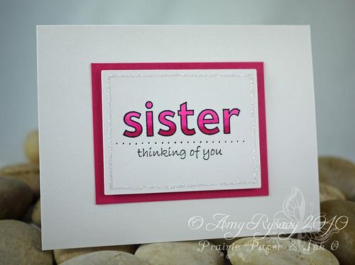 AmyR Stamps The Best Sister Card by AmyR