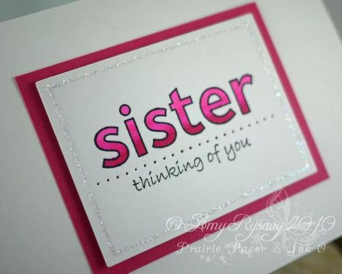 AmyR Stamps The Best Sister Card Closeup by AmyR