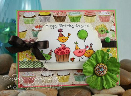 CC For the Birds Happy Bird Day Card by AmyR