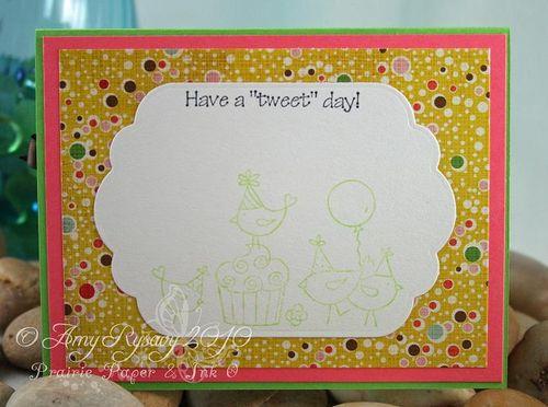 CC For the Birds Happy Bird Day Card Inside by AmyR