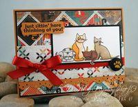 Bella BG M&W Card 3 attitudy cats by AmyR