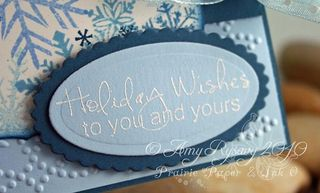 AmyR Stamps Holiday Wishes Card Closeup by AmyR