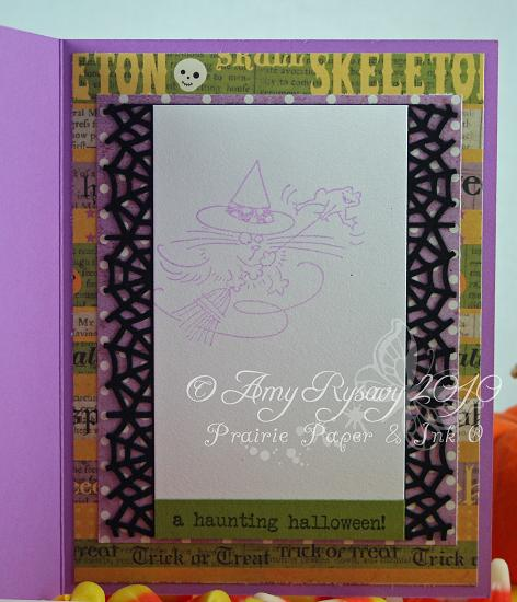 Stampendous Fluffles Witch Card Inside by AmyR