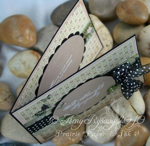 AmyR Heartfelt Sympathy Card Top View by AmyR