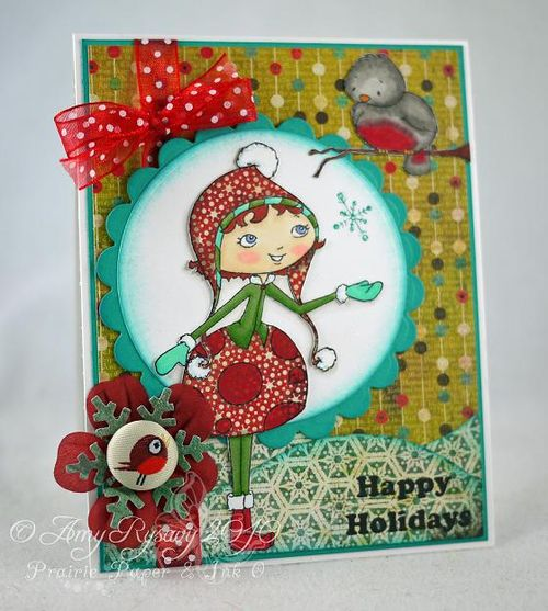 SN Darby and Pudge Happy Holidays Card by AmyR
