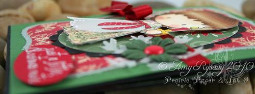 CCD Sugarplums Christmas Candle xmas note Card Sideview by AmyR