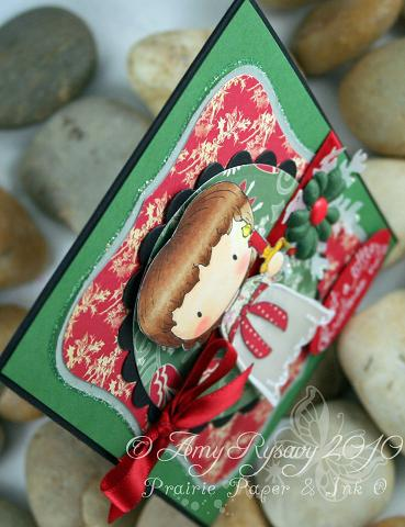 CCD Sugarplums Christmas Candle xmas note Card Top View by AmyR