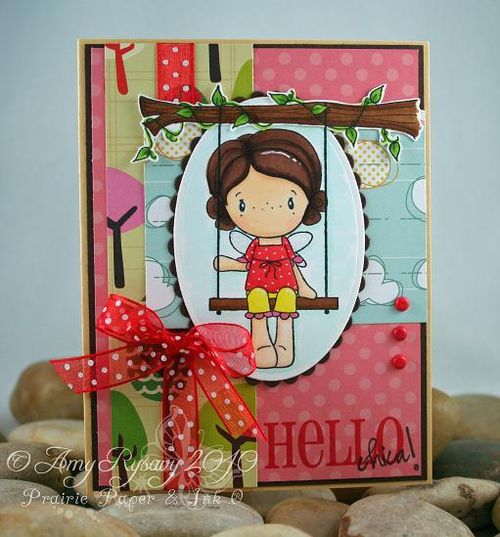 CCD Swing Nora Hello Card by AmyR