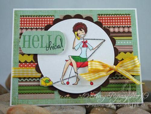 Gossipabella Hello Chica Card by AmyR