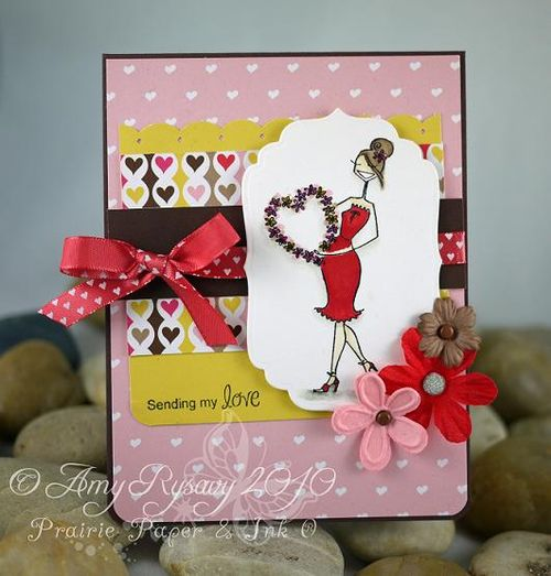 Heart Wreath Bella Card by AmyR