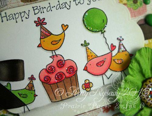 CC For the Birds Happy Bird Day Card Closeup by AmyR