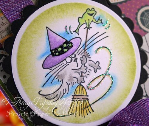 Stampendous Fluffles Witch Card Closeup by AmyR