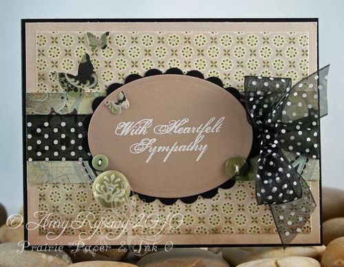 AmyR Heartfelt Sympathy Card by AmyR