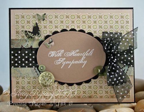 AmyR Heartfelt Sympathy Card by AmyR