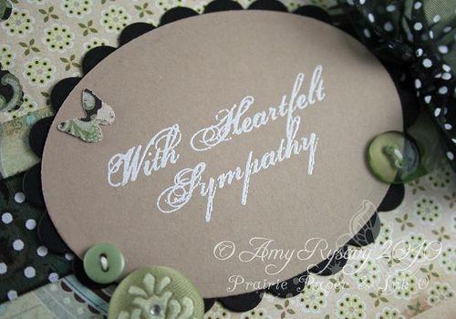 AmyR Heartfelt Sympathy Card Closeup by AmyR
