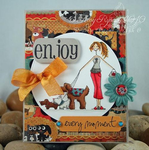 Bella BG M&W Card 6 dogwalkabella card by AmyR