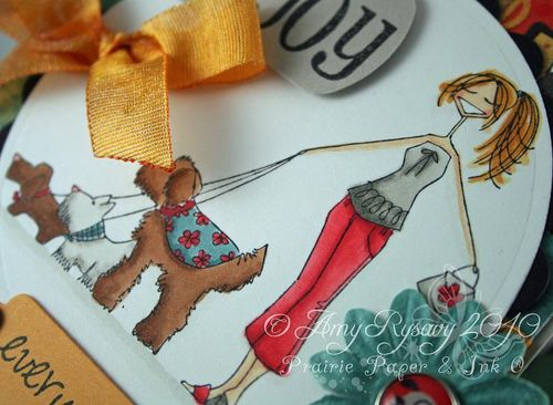 Bella BG M&W Card 6 dogwalkabella card closeup by AmyR