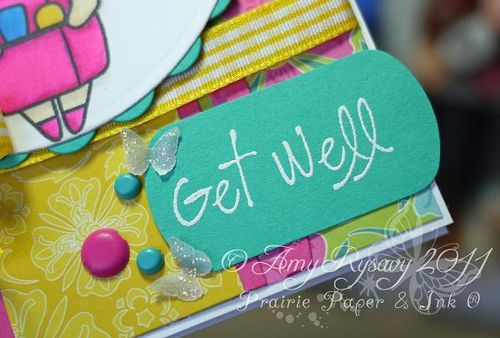 TGF Nurse Anya Get Well Card Closeup Sentiment by AmyR