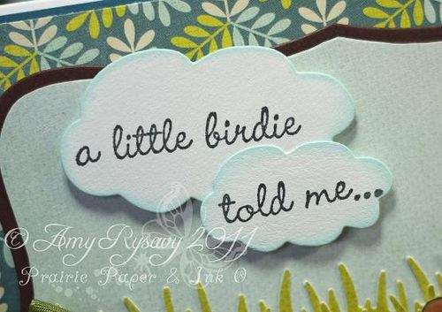 SN Little Birdie Card Sentiment Closeup by AmyR