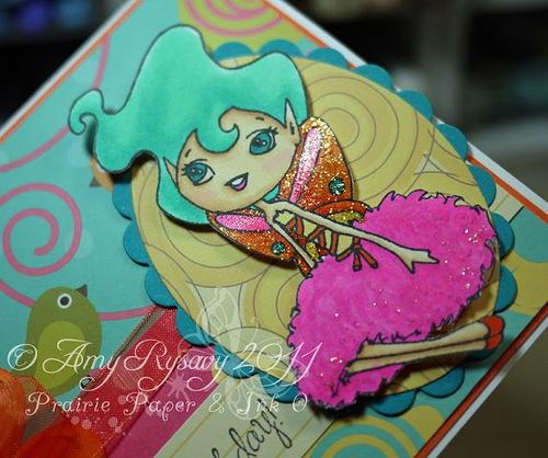 SN Clover GField Happy BDay Card Closeup by AmyR