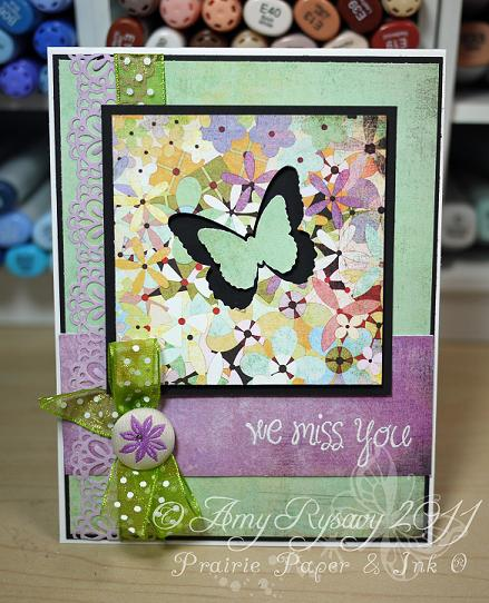 AmyR Stamps We Miss You Butterfly Card by AmyR