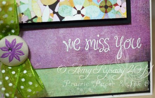 AmyR Stamps We Miss You Butterfly Card Closeup by AmyR