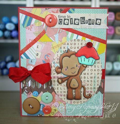 CCD Bday Monkey TTC Card by AmyR
